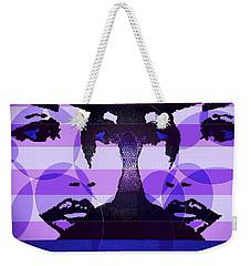 Twins In Purple Weekender Tote Bag