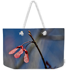 Weekender Tote Bag featuring the photograph Twins by Linda Brown