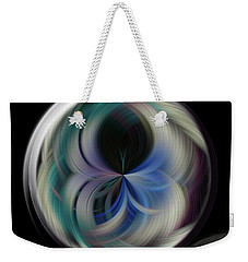 Weekender Tote Bag featuring the photograph Twirl Line Orb by Judy Wolinsky
