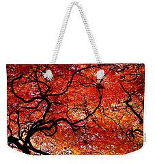 Twisted Red Weekender Tote Bag