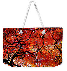 Twisted Red Weekender Tote Bag