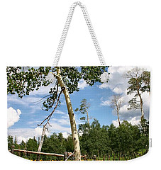 Weekender Tote Bag featuring the photograph Twisted Trunk by Kristin Elmquist