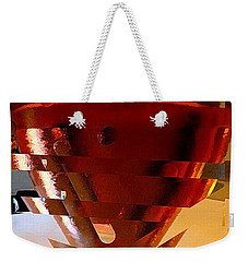 Twisted Wine Glass Weekender Tote Bag
