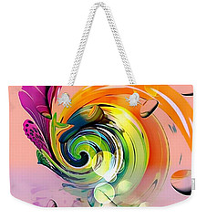 Weekender Tote Bag featuring the digital art Twister Light By Nico Bielow by Nico Bielow