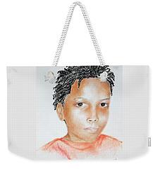 Twists, At 9 -- Portrait Of African-american Boy Weekender Tote Bag
