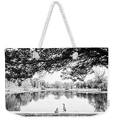 Weekender Tote Bag featuring the photograph Two At The Pond by Karol Livote