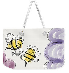 Two Bees Or Not Two Bees Weekender Tote Bag by Jason Nicholas