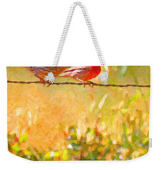Two Birds On A Wire Weekender Tote Bag