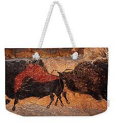 Two Bisons Running Weekender Tote Bag