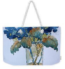 Two Blue Hydrangea Weekender Tote Bag