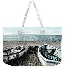 Two Boats On Seaford Beach Weekender Tote Bag
