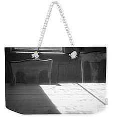 Weekender Tote Bag featuring the photograph Two Bodie Chairs by Craig J Satterlee