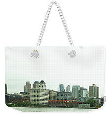 Weekender Tote Bag featuring the photograph Two Bridges by Robert Knight