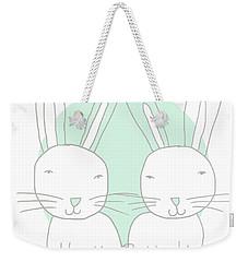 Two Bunnies- Art By Linda Woods Weekender Tote Bag