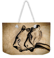 Two Chauvet Cave Lions Weekender Tote Bag