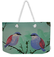 Two Chickadees Weekender Tote Bag