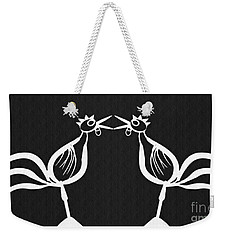 Two Crowing Roosters 2 Weekender Tote Bag by Sarah Loft