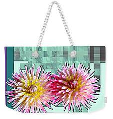 Two Dahlias Weekender Tote Bag