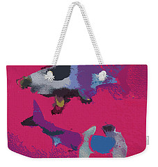 Two Dangerous Sharks Weekender Tote Bag