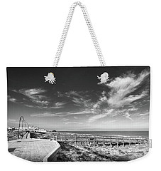 Two Directions At The Beach Weekender Tote Bag