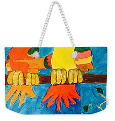 Two Double Yelloe Headed Birds Weekender Tote Bag