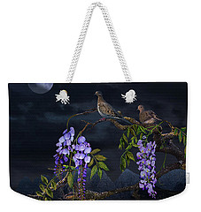 Mourning Doves In Moonlight Weekender Tote Bag