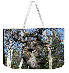 Two Elephants In A Tree Weekender Tote Bag