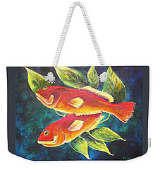 Two Fish Weekender Tote Bag