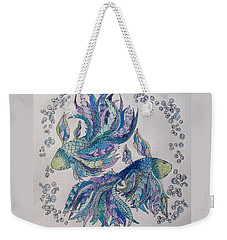 Two Fish Tangled 2 Weekender Tote Bag