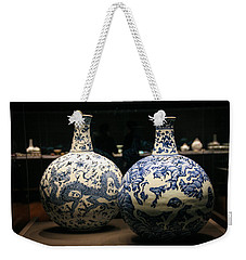 Two Flasks With Dragons Weekender Tote Bag by Silvia Bruno