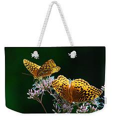 Two Fritillaries Weekender Tote Bag by Kathryn Meyer