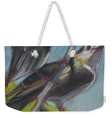 Two Gray Jays Weekender Tote Bag