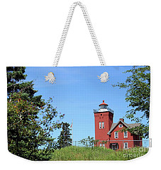 Two Harbors Lighthouse Weekender Tote Bag by Jimmy Ostgard