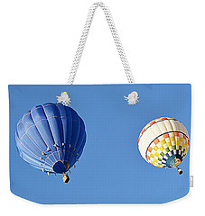 Weekender Tote Bag featuring the photograph Two High In The Sky by AJ Schibig