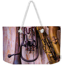 Two Horns Weekender Tote Bag by Garry Gay