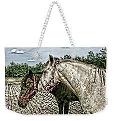 Two Horses In A Field Weekender Tote Bag