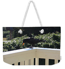 Weekender Tote Bag featuring the photograph Two In The Beak by Marie Neder