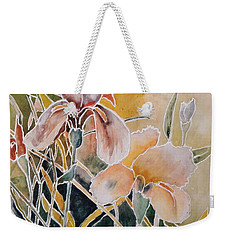 Two Irises Weekender Tote Bag