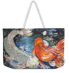 Two Koi Weekender Tote Bag