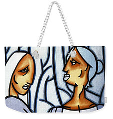 Two Ladies Weekender Tote Bag