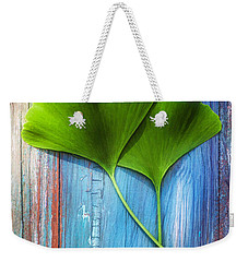 Two Leaves Of Ginkgo Biloba Weekender Tote Bag