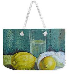 Two Lemons Weekender Tote Bag