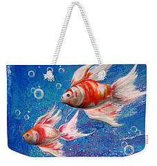 Two Little Fishies Weekender Tote Bag