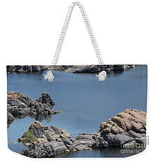 Two Lone Trees At Granite Dells Weekender Tote Bag by Anne Rodkin
