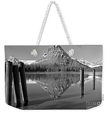 Weekender Tote Bag featuring the photograph Two Med Posts by Adam Jewell