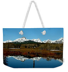 Two Med River Reflection Weekender Tote Bag