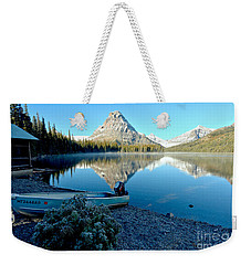 Weekender Tote Bag featuring the photograph Two Medicine Boat 4 by Adam Jewell
