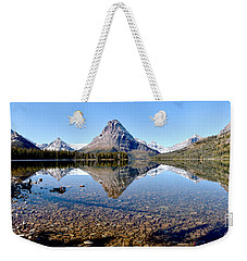 Weekender Tote Bag featuring the photograph Two Medicine Pano by Adam Jewell
