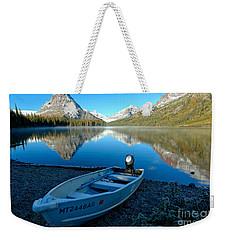 Two Medicnie Boat 3 Weekender Tote Bag by Adam Jewell