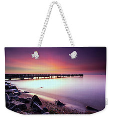 Weekender Tote Bag featuring the photograph Two Minutes Of Blue Hour   by Edward Kreis